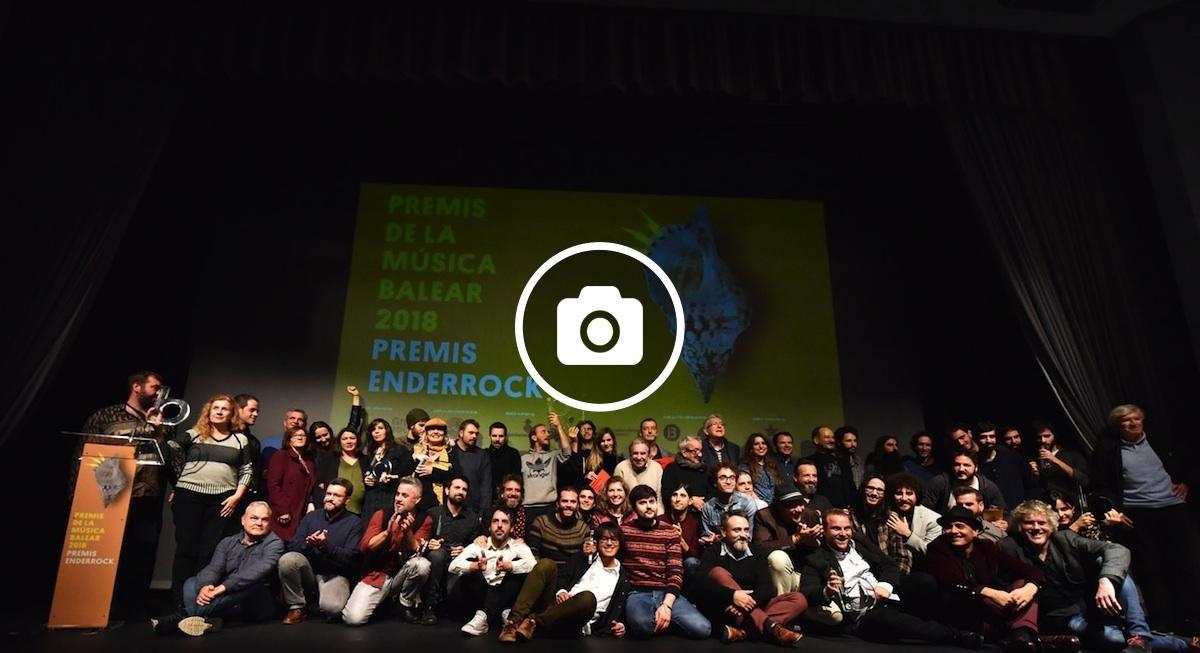 Els guardonats dels Premis Enderrock a la Música Balear 2018