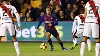 El Barça remunta a Vallecas després d'una segona part per oblidar (2-3)