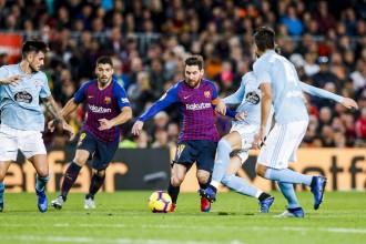 El Barça tanca l'any amb una victòria contra el Celta (2-0)