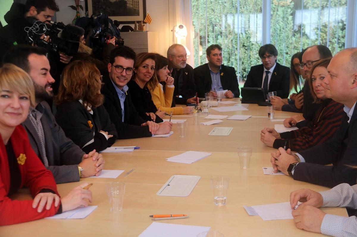 Reunió de l'executiva del PDECat a Waterloo amb Carles Puigdemont, en una imatge d'arxiu