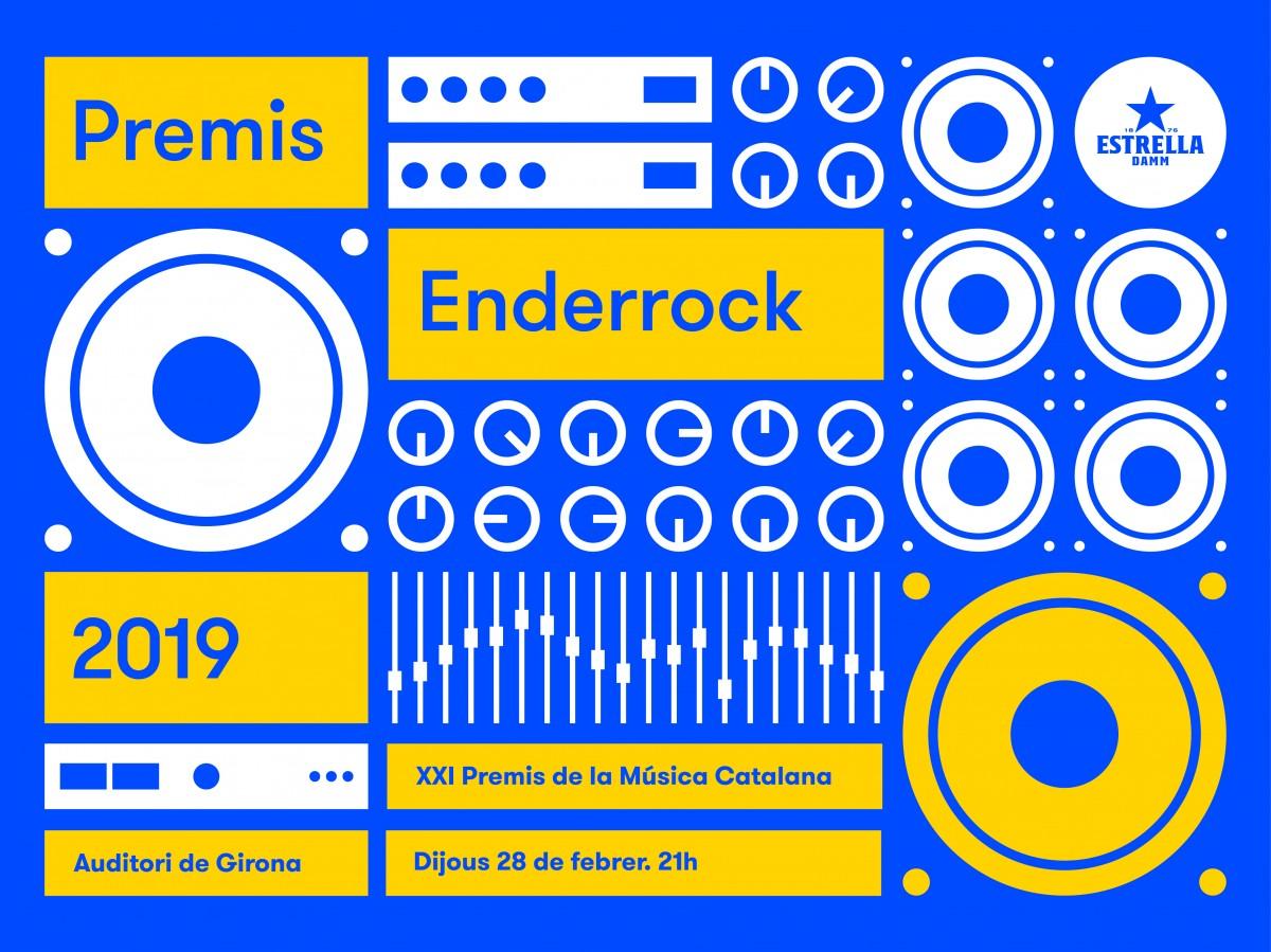 Cartell dels Premis Enderrock 2019