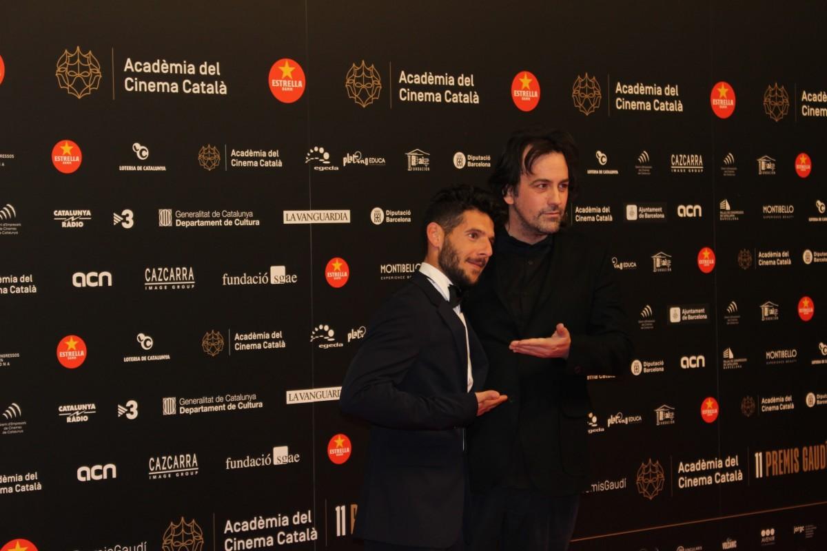 Isaki Lacuesta i Israel Gómez, a la catifa vermella dels Premis Gaudí
