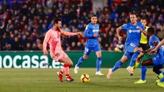 Messi i Suárez fan més líder el Barça a Getafe (1-2)