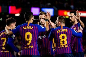 El Barça guanya a l'Eibar i es consolida líder amb el gol 400 de Messi a la Lliga (3-0)