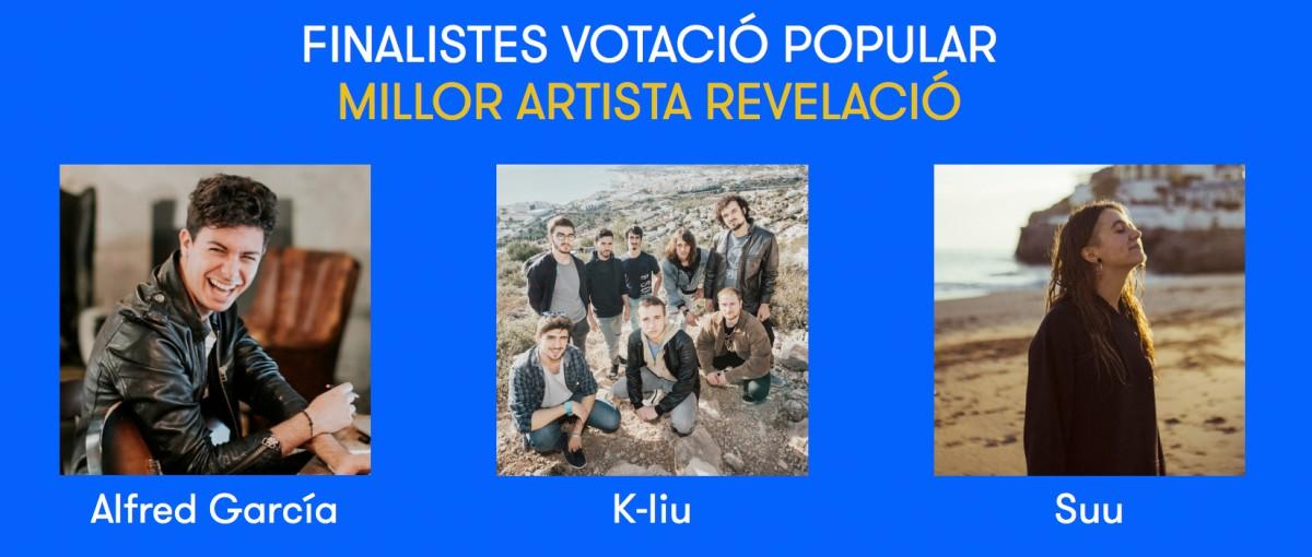 Nominats a millor artista revelació del 2018