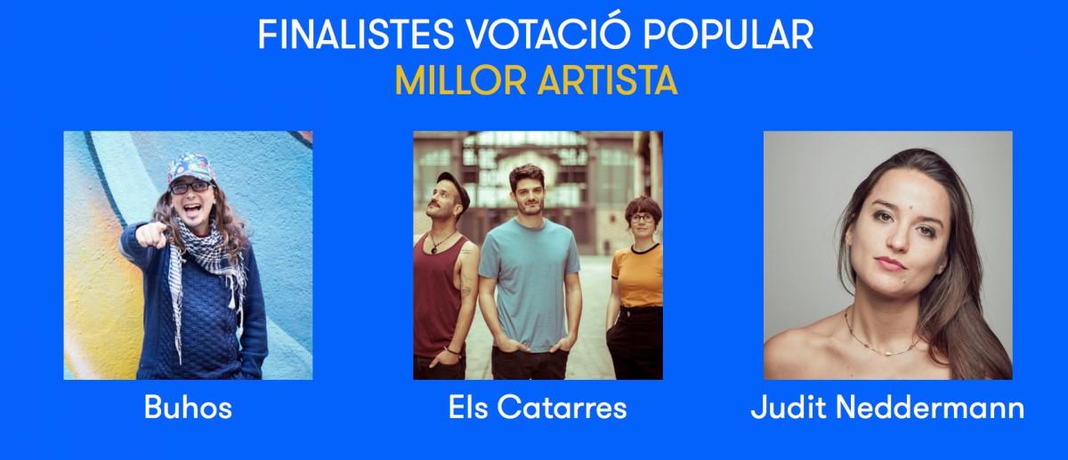 Nominats a millor artista del 2018