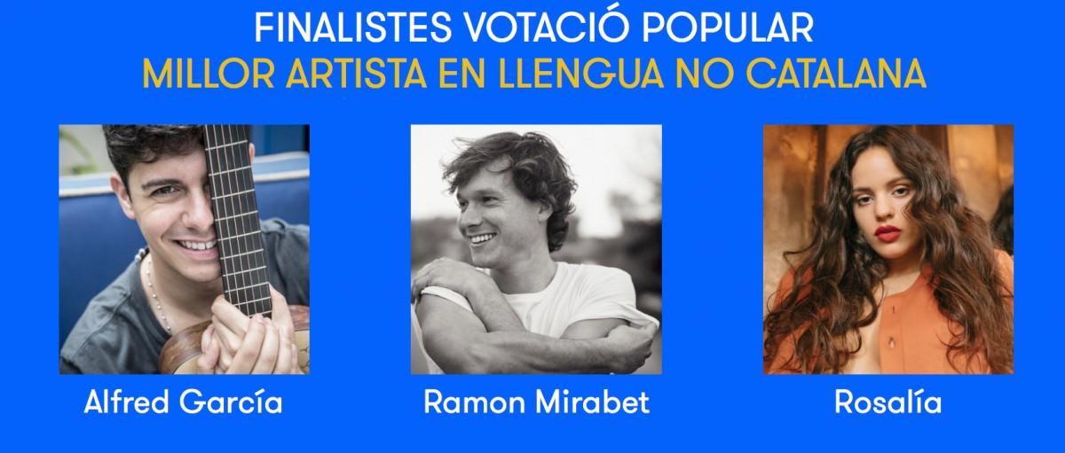 Nominats a millor artista en llengua no catalana 2018