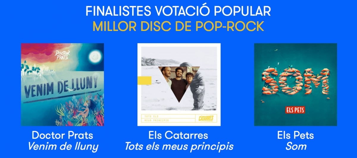 Nominats a millor disc de pop-rock del 2018