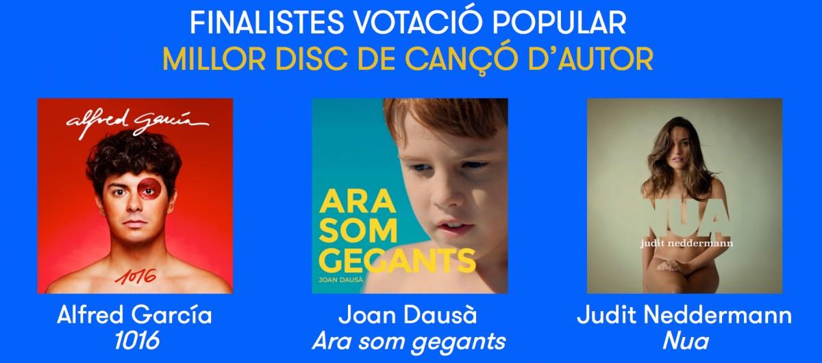 Nominas a millor disc de cançó d'autor del 2018