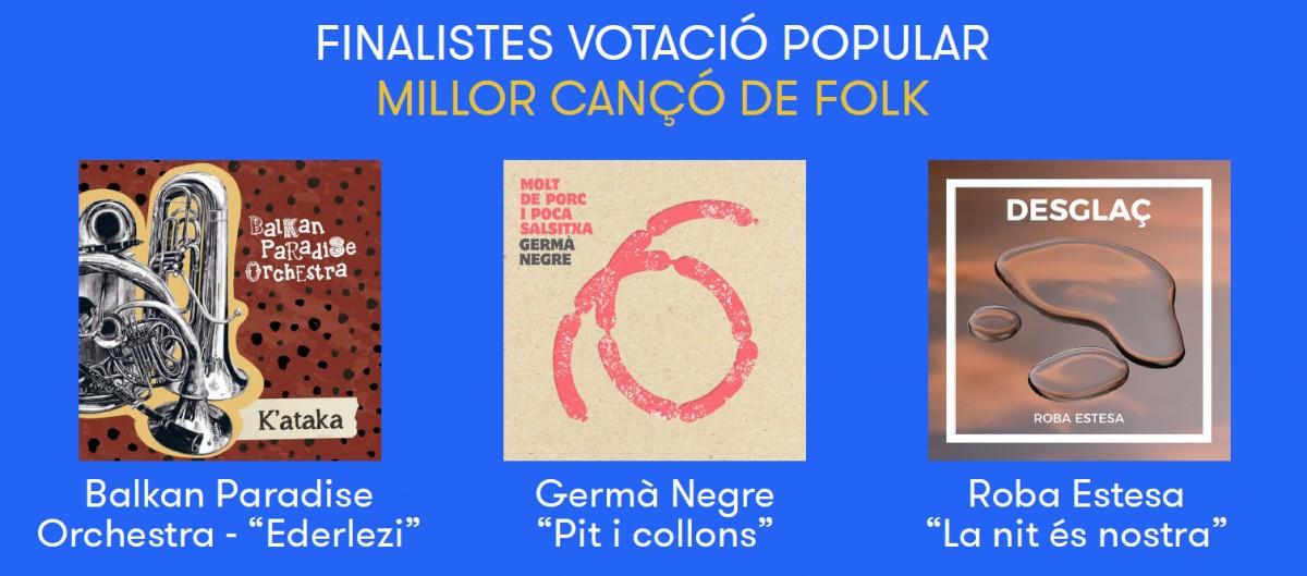 Nominats al Premi a la Millor cançó de folk del 2018