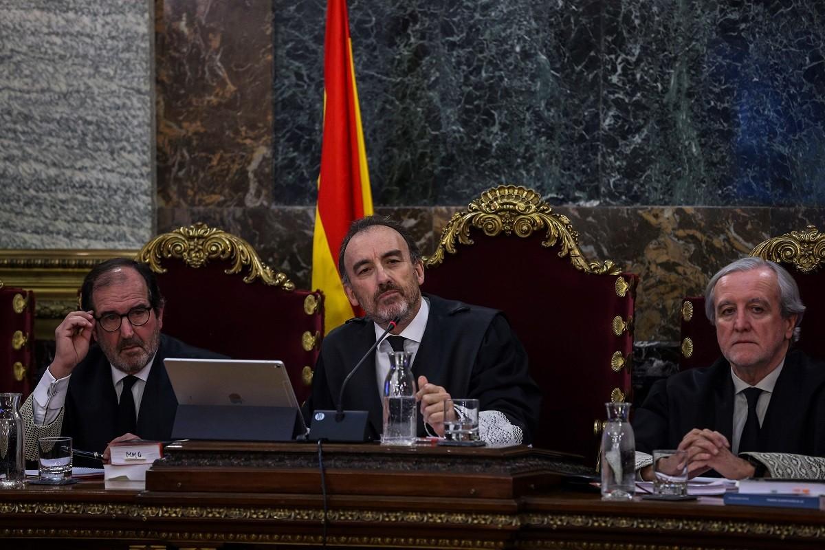 El magistrat Manuel Marchena, en el primer dia del judici del Tribunal Suprem.