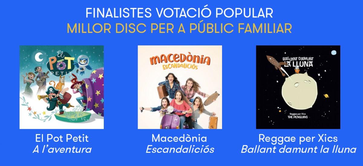 Nominats a Millor disc per a públic familiar del 2018