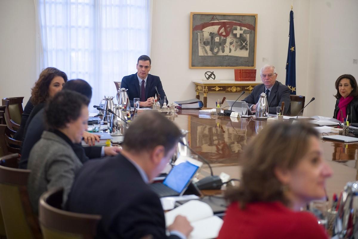 El president del govern espanyol, Pedro Sánchez, reunit al consell de ministres
