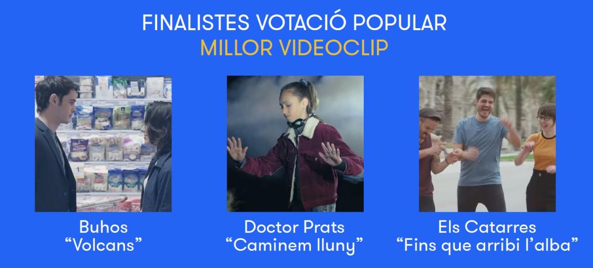 Finalistes a Millor videoclip del 2018