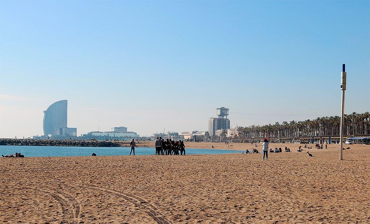 La platja del Somorrostro de Barcelona.