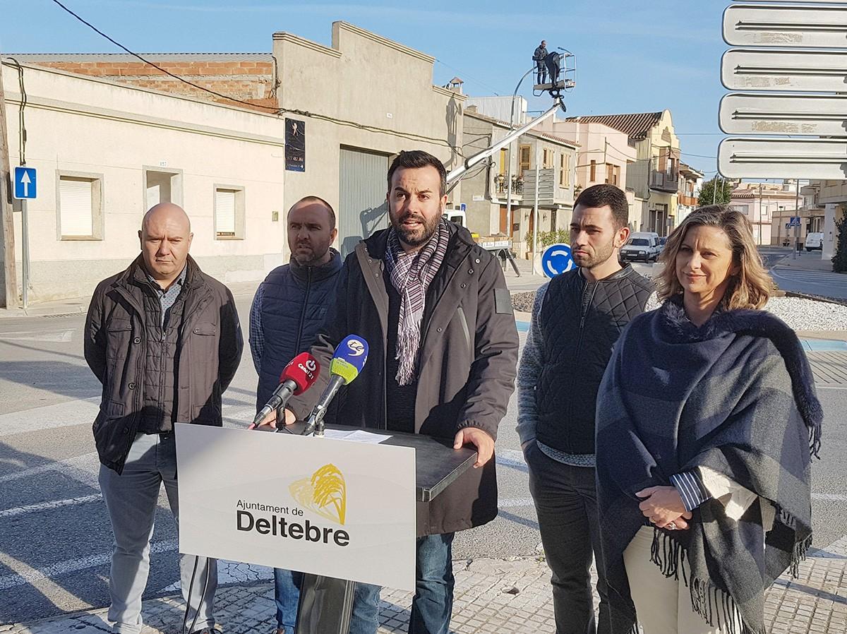 Les millores les ha presentat avui l'alcalde de Deltebre, Lluís Soler.