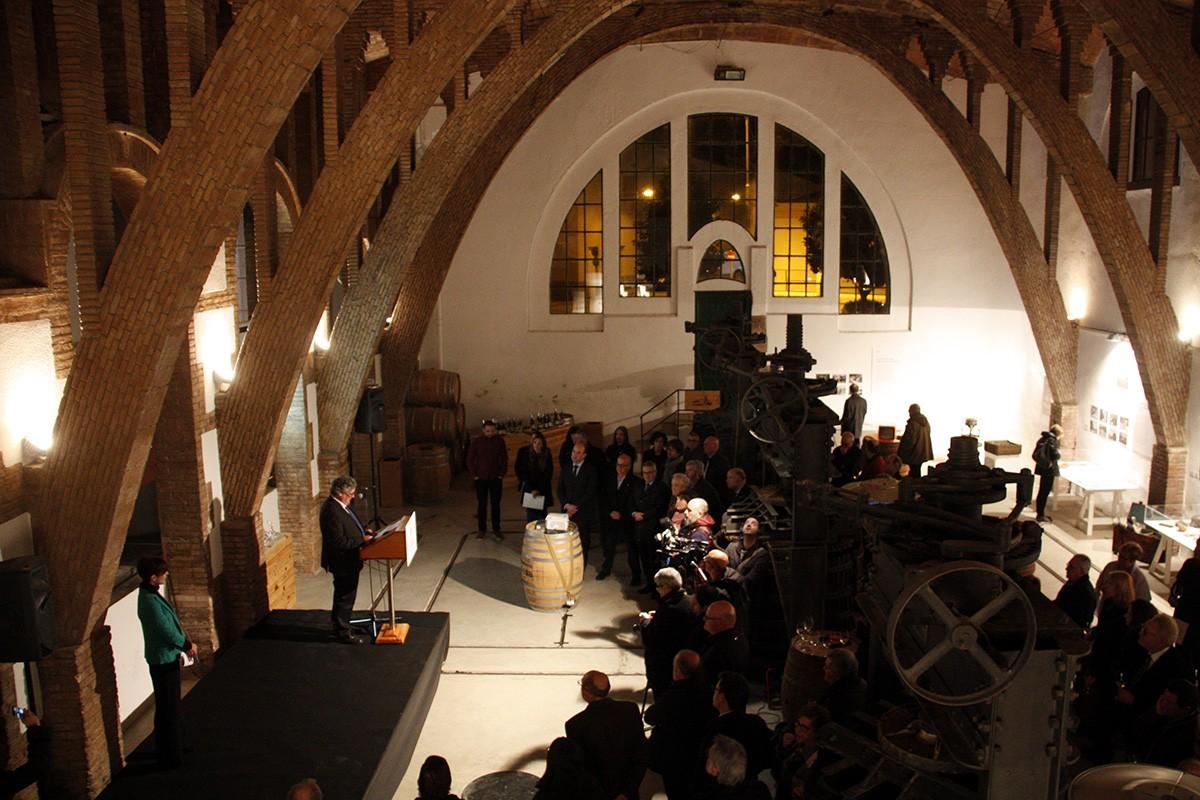 Acte de celebració del centenari de la Cooperativa de Gandesa, ahir a la nit.