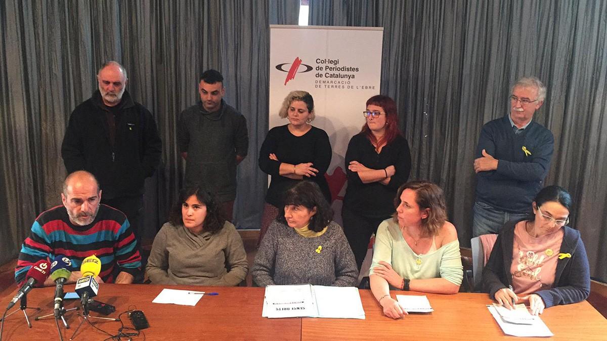 Els representants de Taula per la Democràcia de les Terres de l'Ebre.