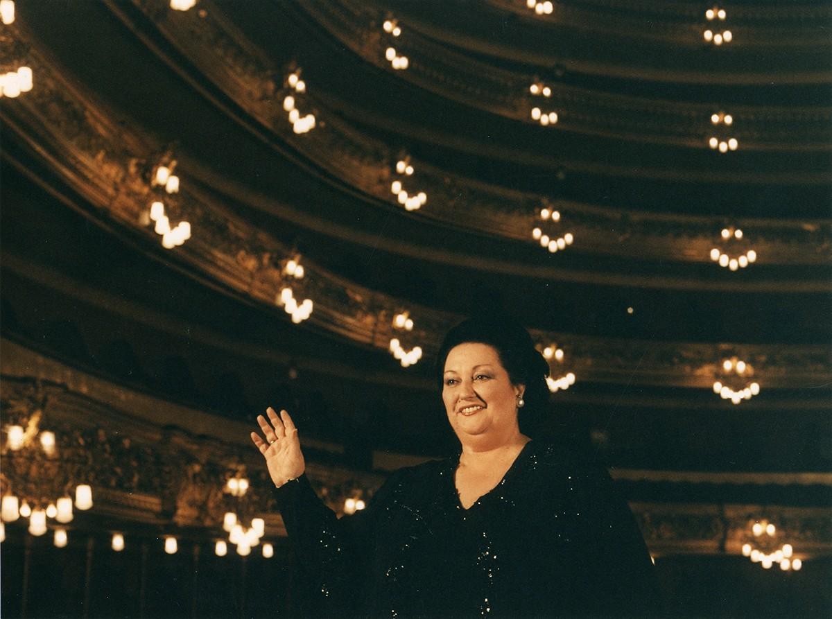 Montserrat Caballé en una imatge al Liceu