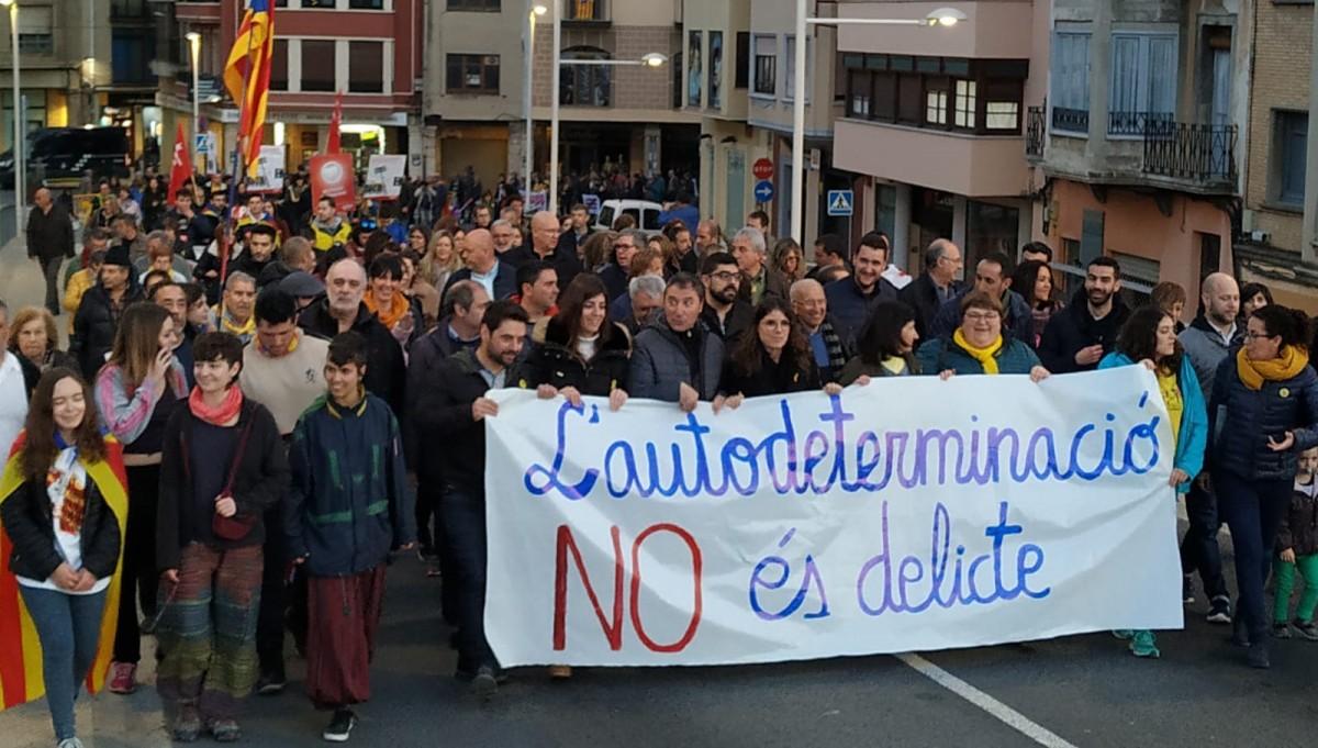 Un dels lemes més repetits ha estat en defensa de l'autodeterminació.