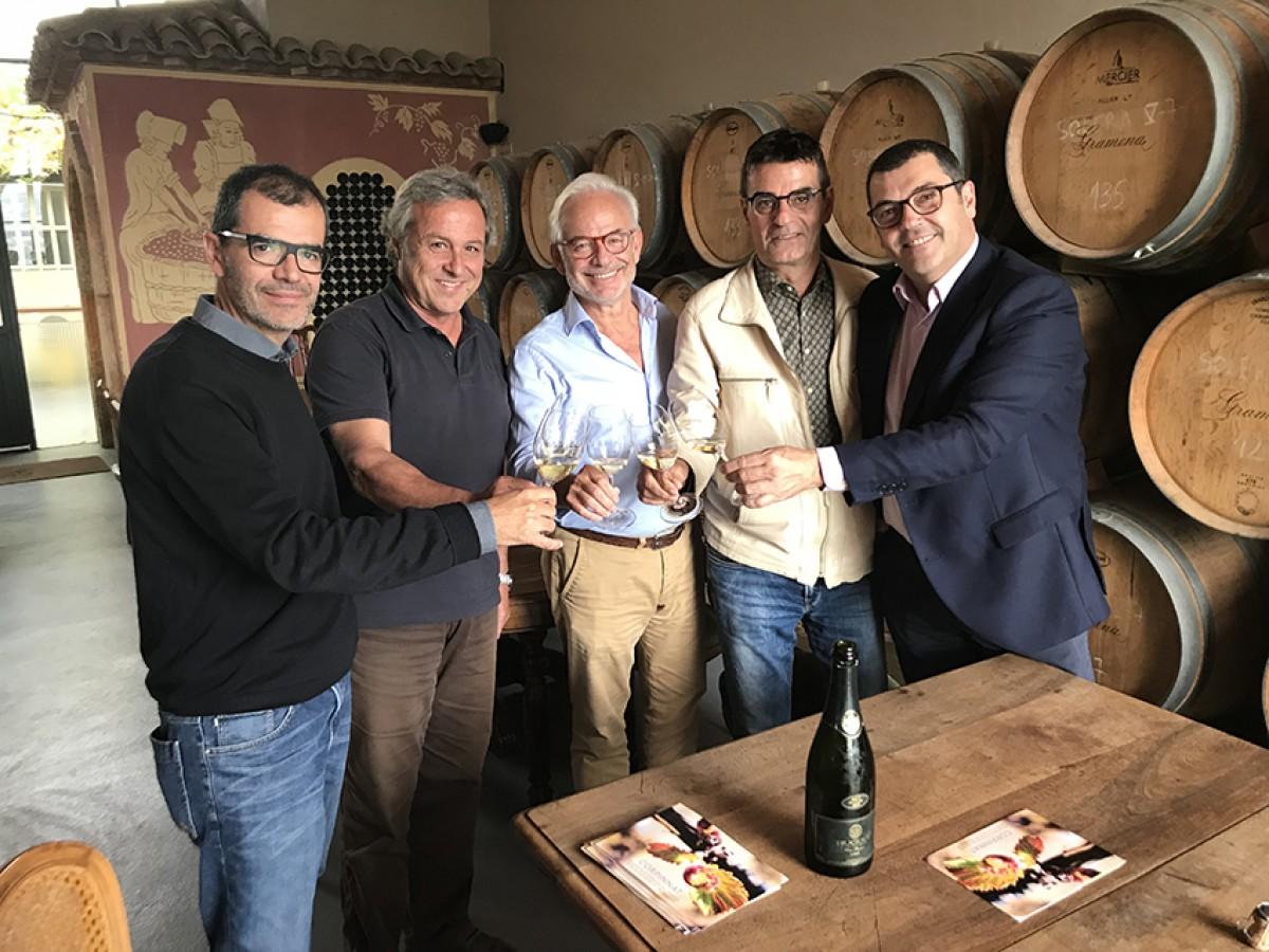 D'esquerra a dreta, Ton Mata, Joan Huguet, Xavier Gramona, Xavi Nadal i Toni de la Rosa