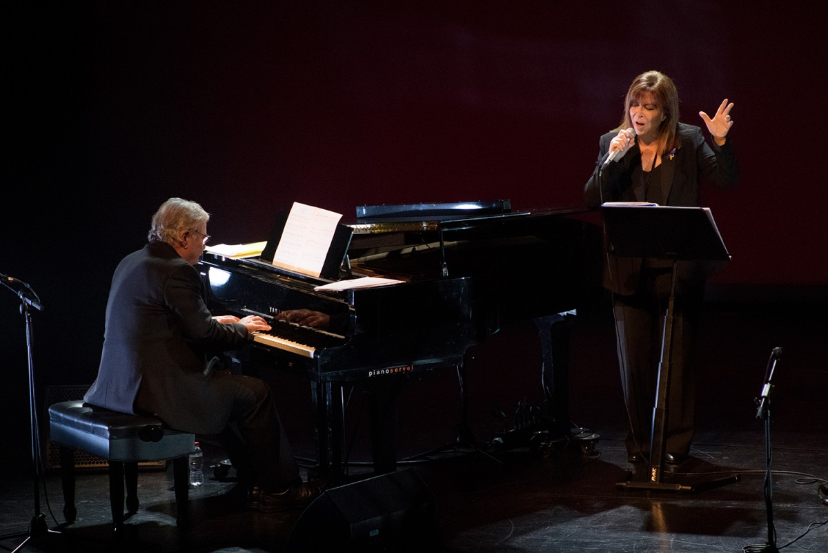 Maria del Mar Bonet i José María Vitier divendres al Teatre Joventut de l'Hospitalet