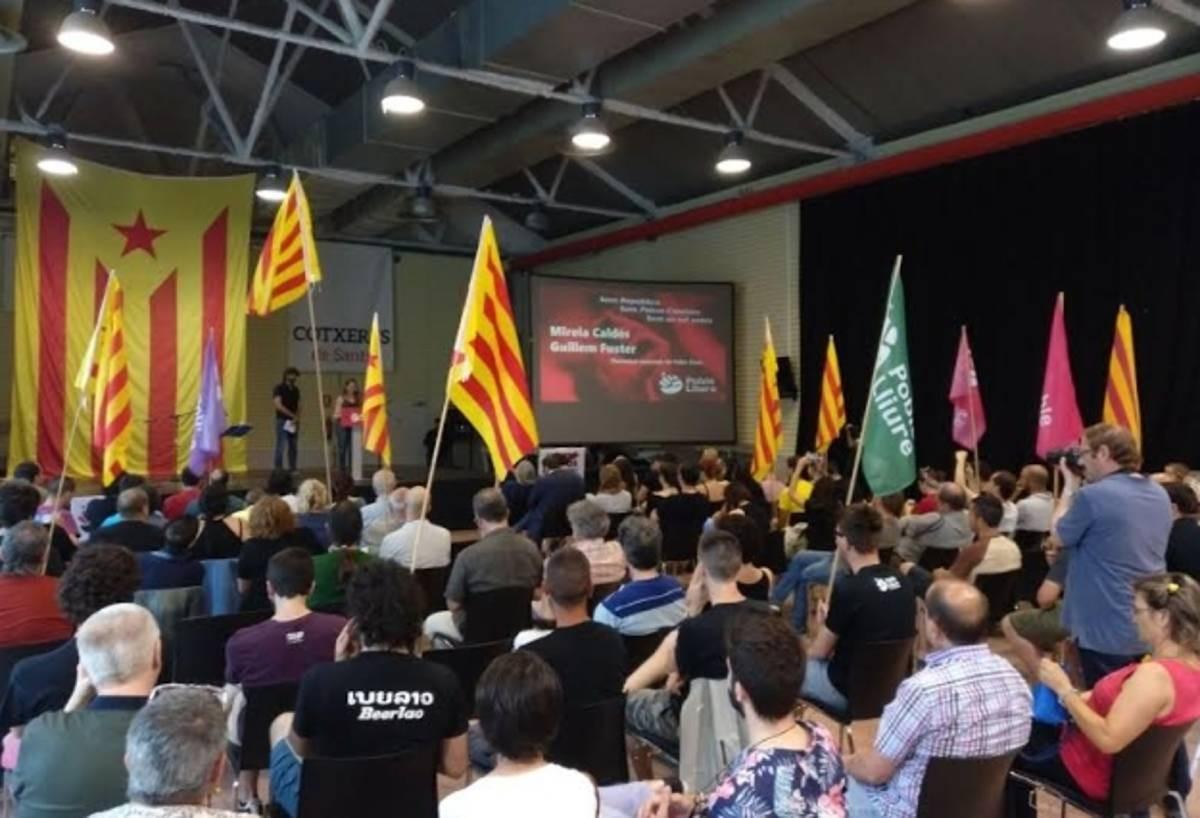 Una assemblea de Poble Lliure el 2018