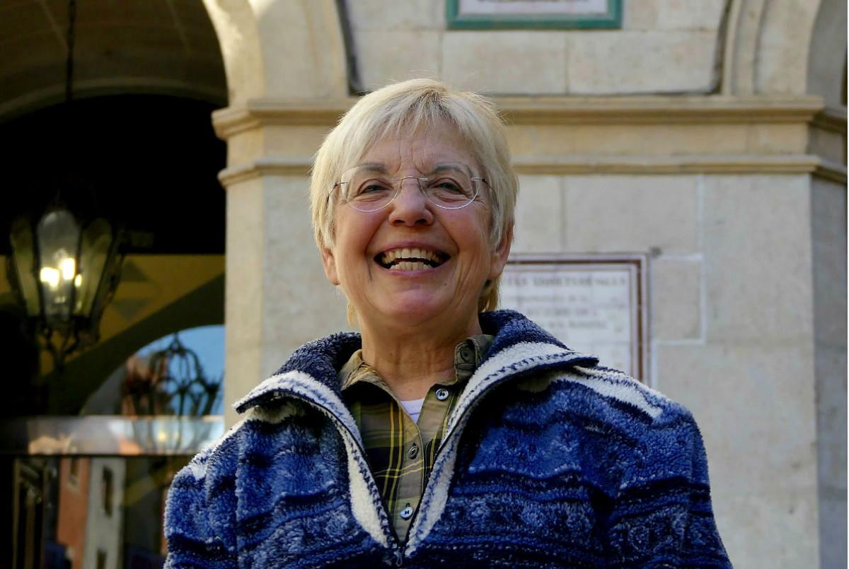 Margarida Aritzeta,  degana de la Institució de les Lletres Catalanes, durant l'entrevista
