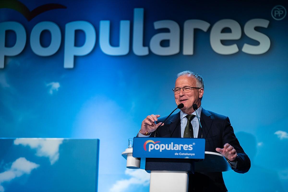 Josep Bou, durant un acte de campanya del PP