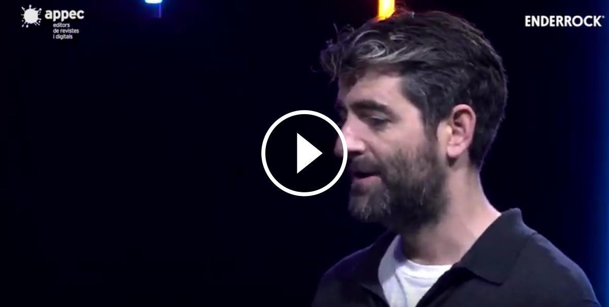 Fotograma del vídeo de l'entrevista a Joan Dausà