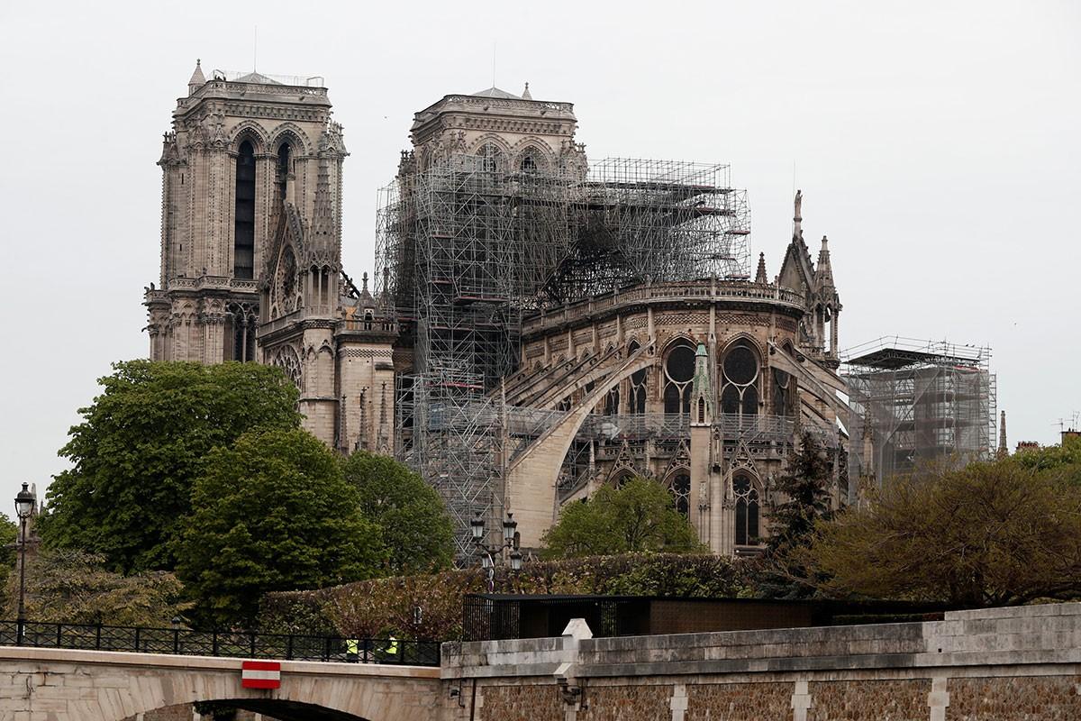La catedral després de l'incendi