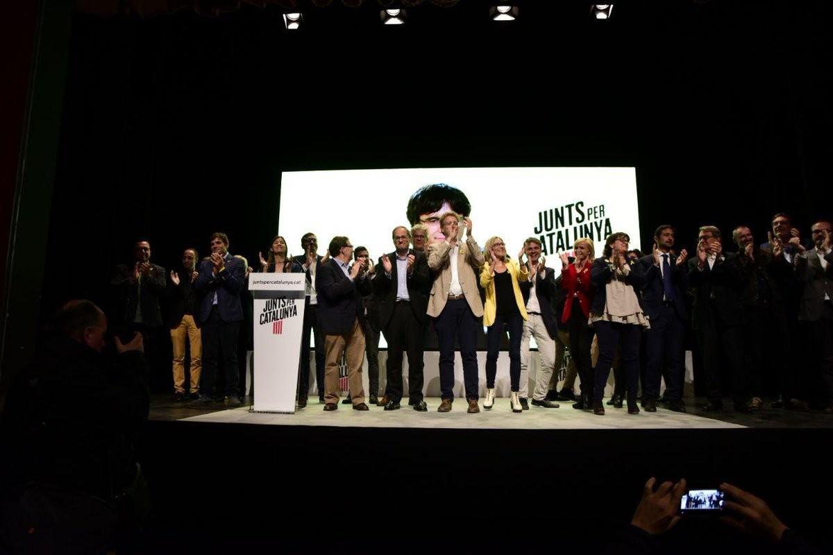 Míting de campanya de Junts per Catalunya a Tarragona amb els principals dirigents de la formació