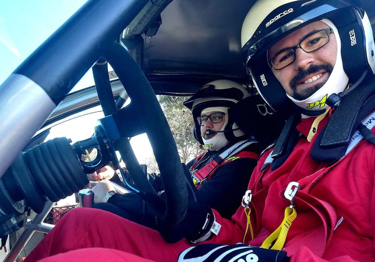 Iñaki Rodríguez, al volant, i el seu copilot, Francisco Javier Jiménez.