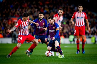 Messi i Suárez dobleguen l'Atlètic de Madrid i sentencien la Lliga (2-0)