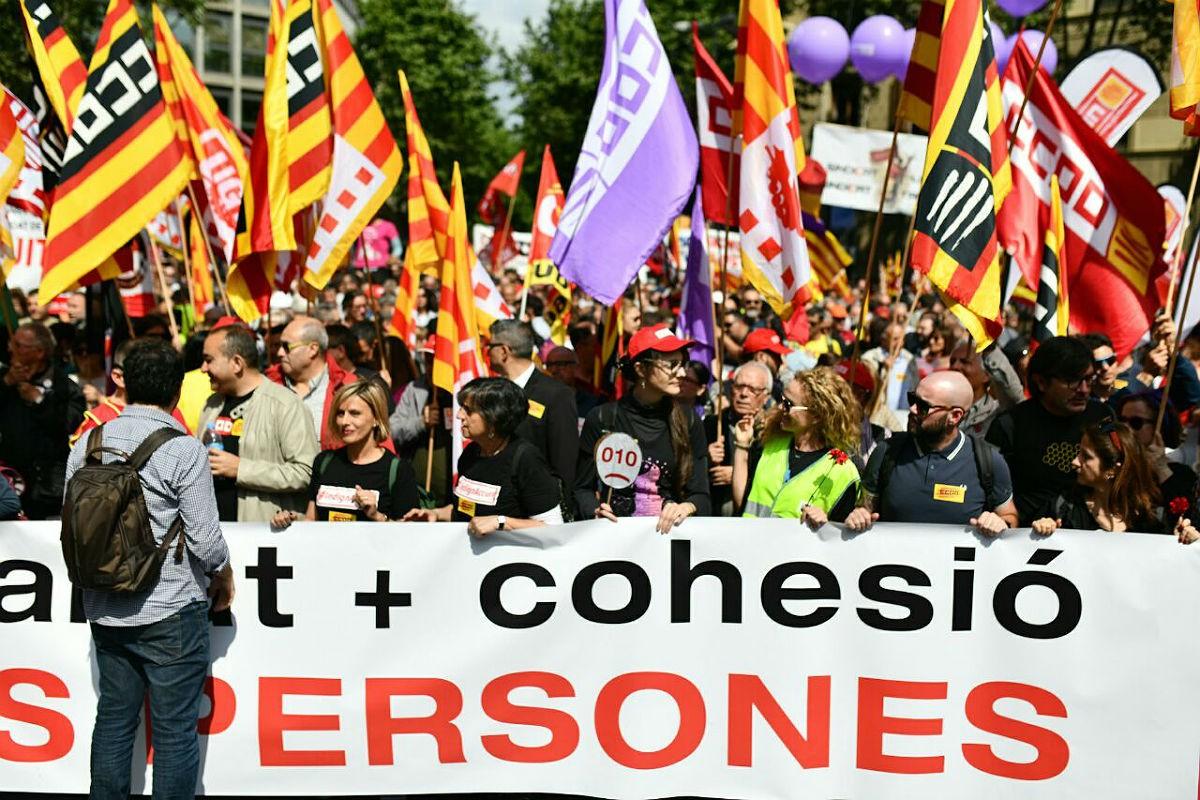 Manifestació de l'1 de maig de fa uns anys a Barcelona