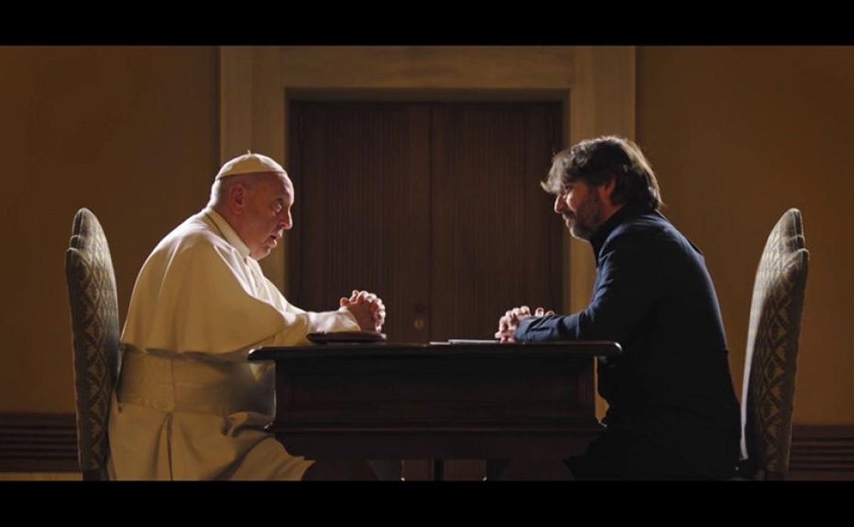 Jordi Évole, en l'entrevista amb el Papa