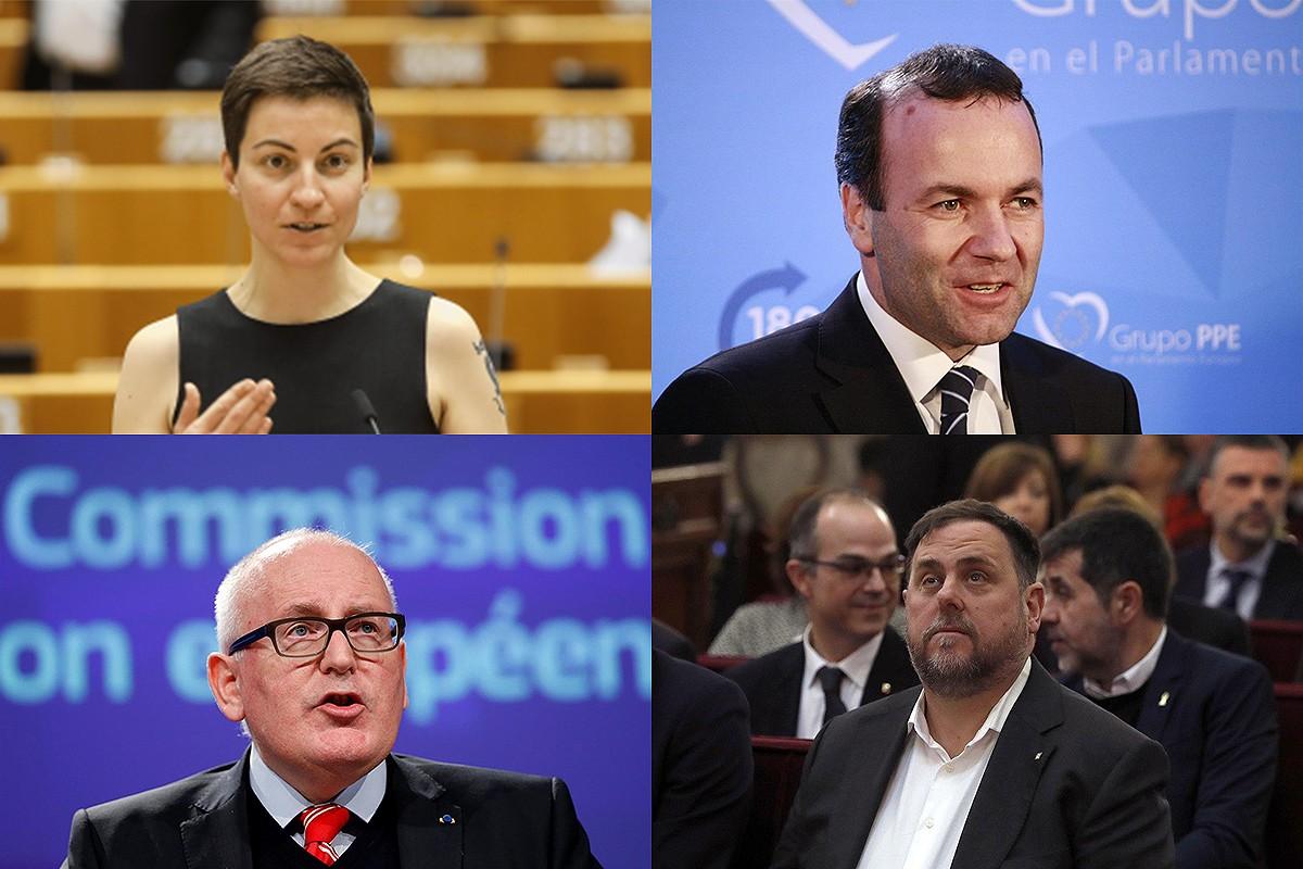 Quatre dels candidats a presidir la Comissió Europea
