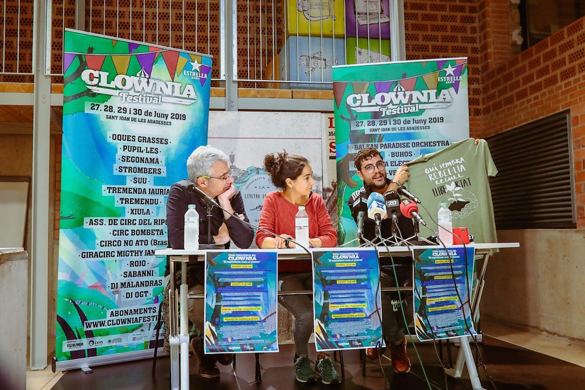 Roda de premsa de la presentació de l'Espai Consciència a la Lleialtat Santsenca