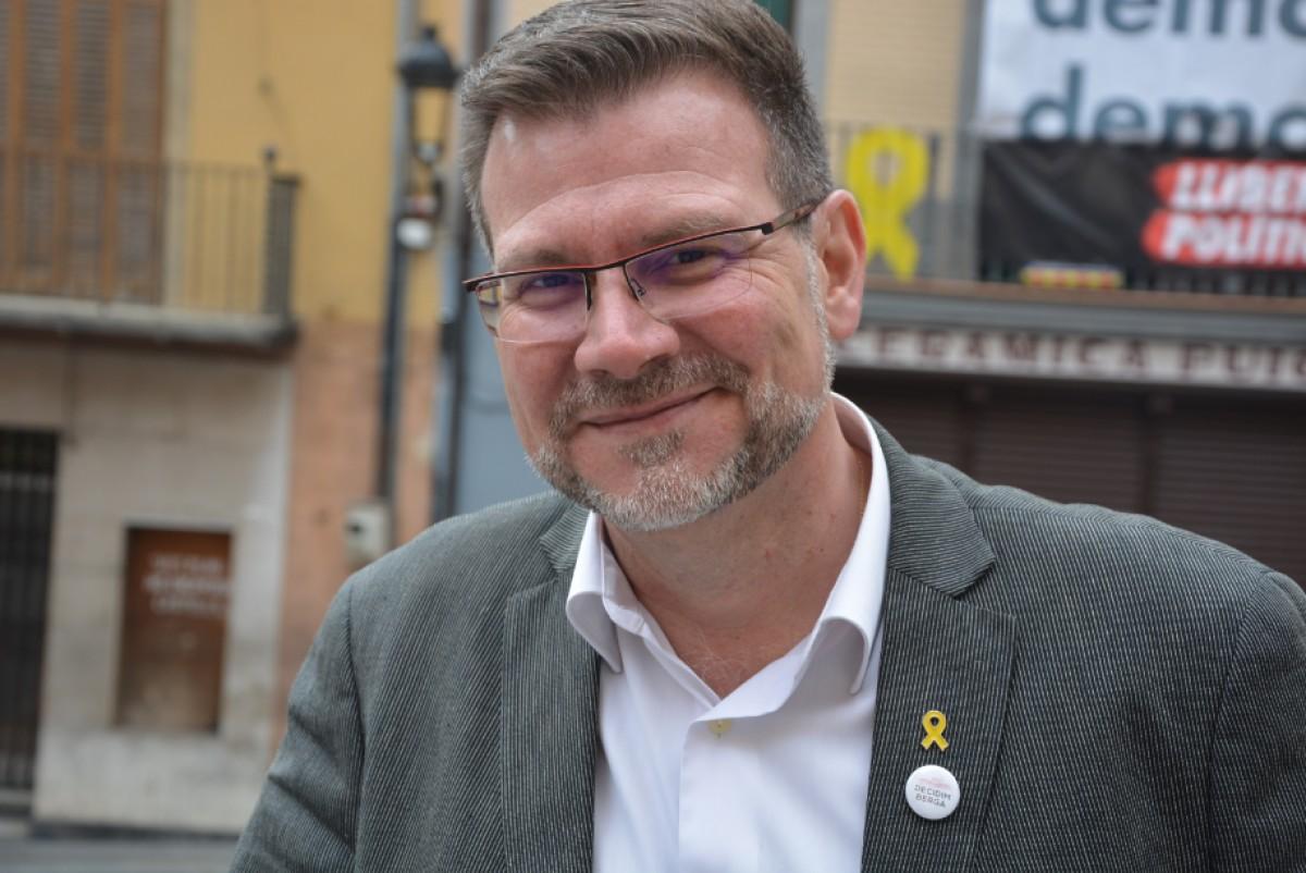 El cap de llista de Decidim Berga, Daniel Fàbregas.