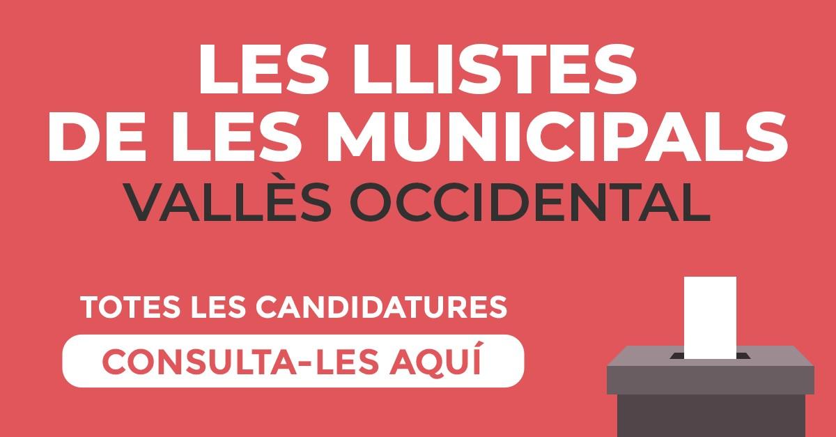 Candidatures al Vallès Occidental.
