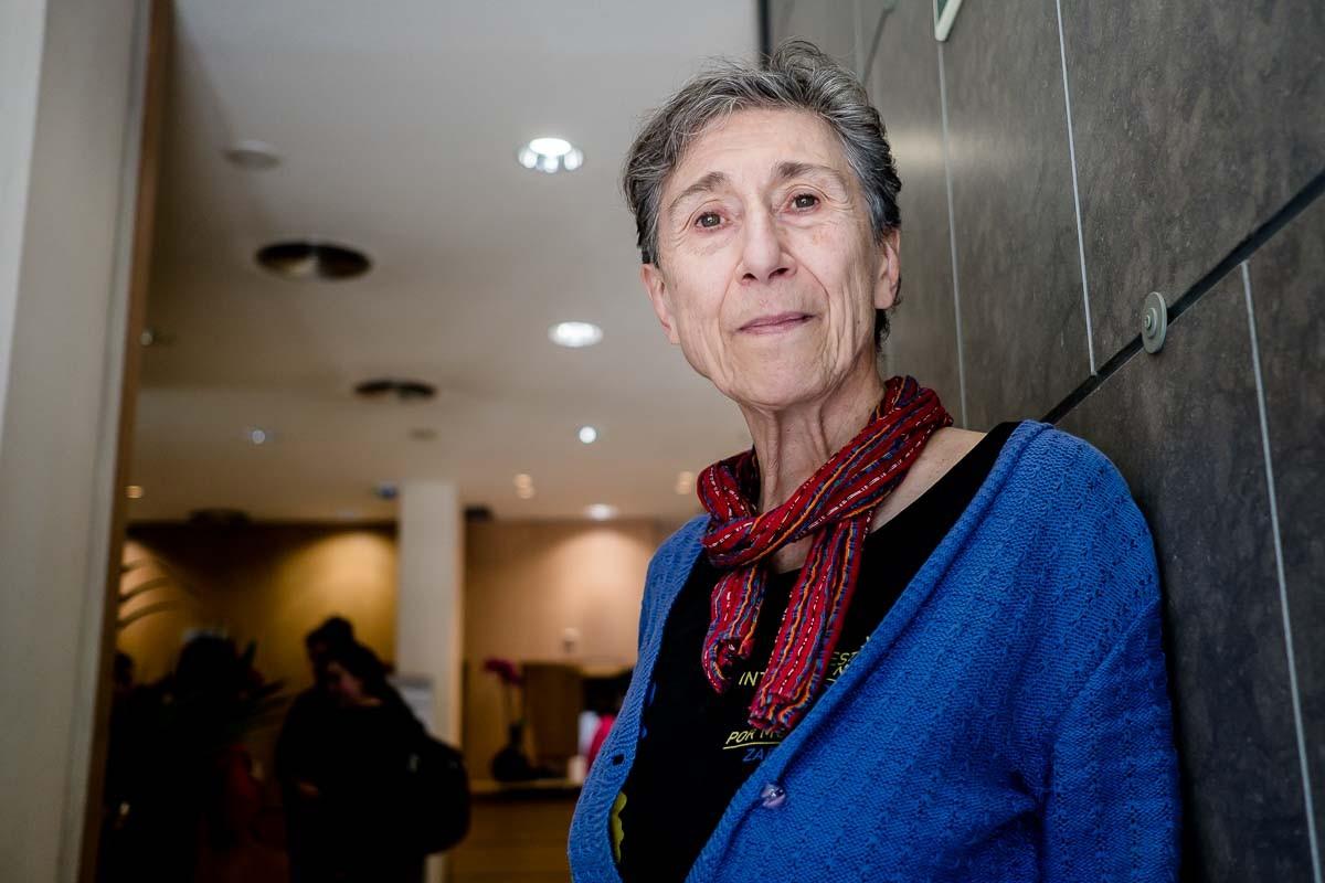 Silvia Federici, durant l'entrevista amb NacióDigital.