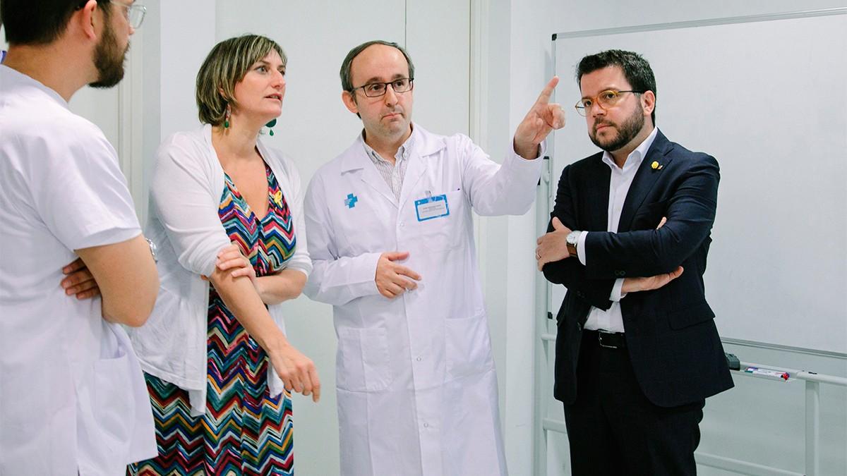 La consellera Vergés i el vicepresident Aragonès