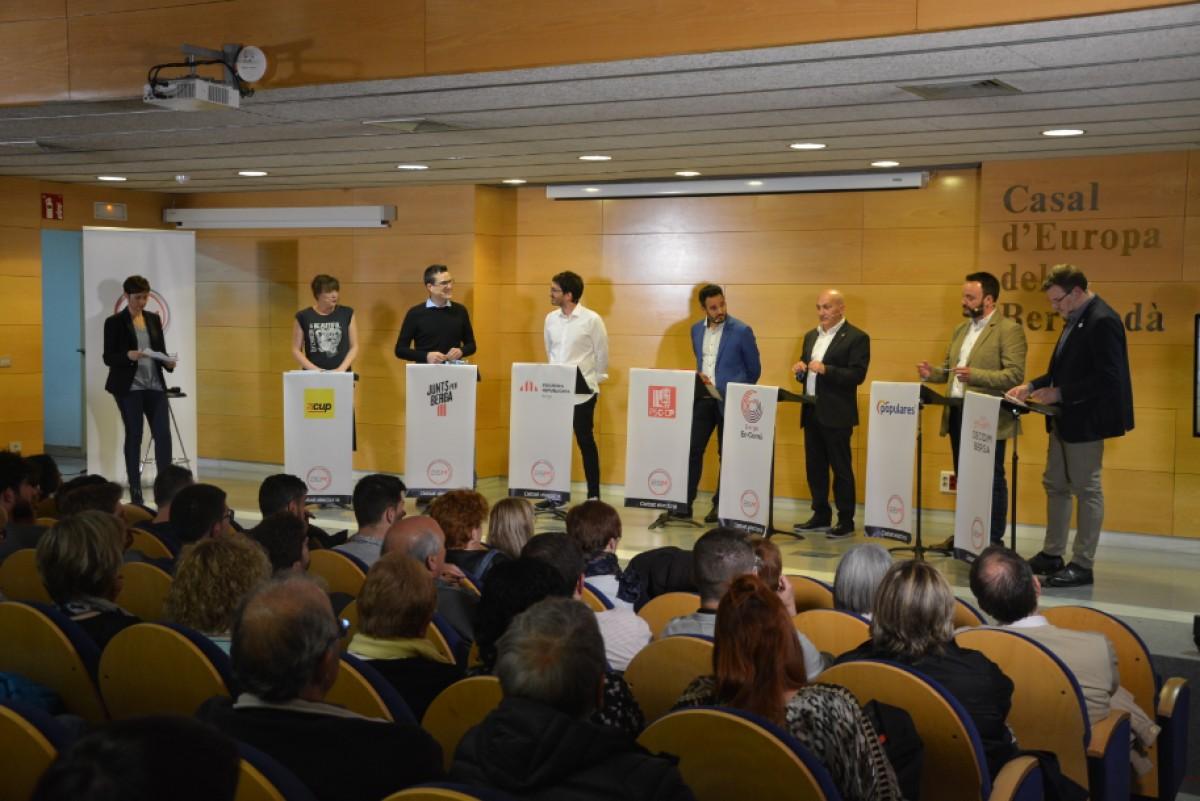 Debat entre alcaldables, organitzat per Televisió del Berguedà.