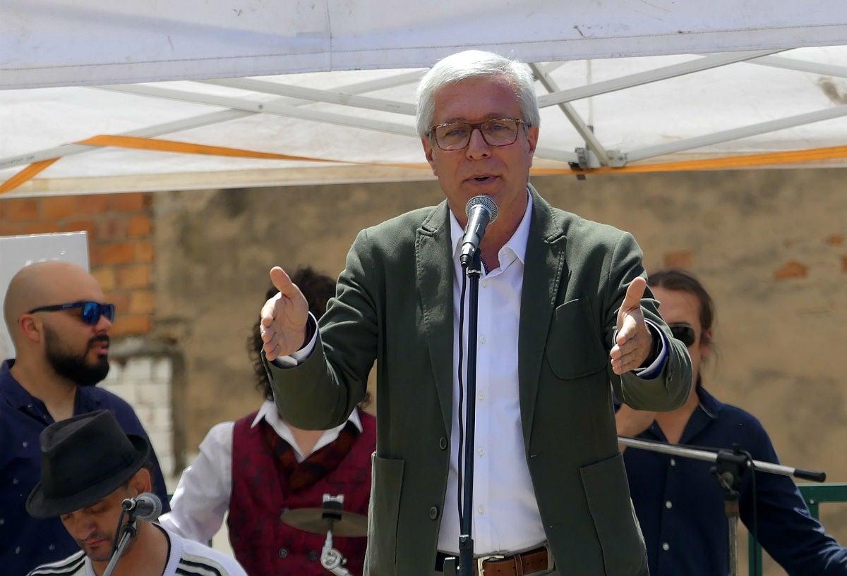 Josep Fèlix Ballesteros, alcaldable del PSC a Tarragona, en l'acte central celebrat a Bonavista.