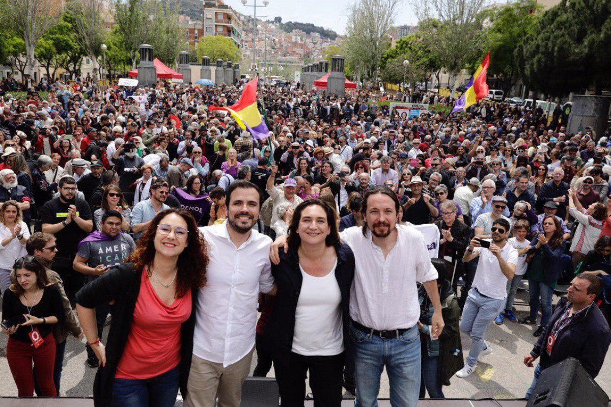 Pérez, Garzón, Colau i Iglesias, al mítin