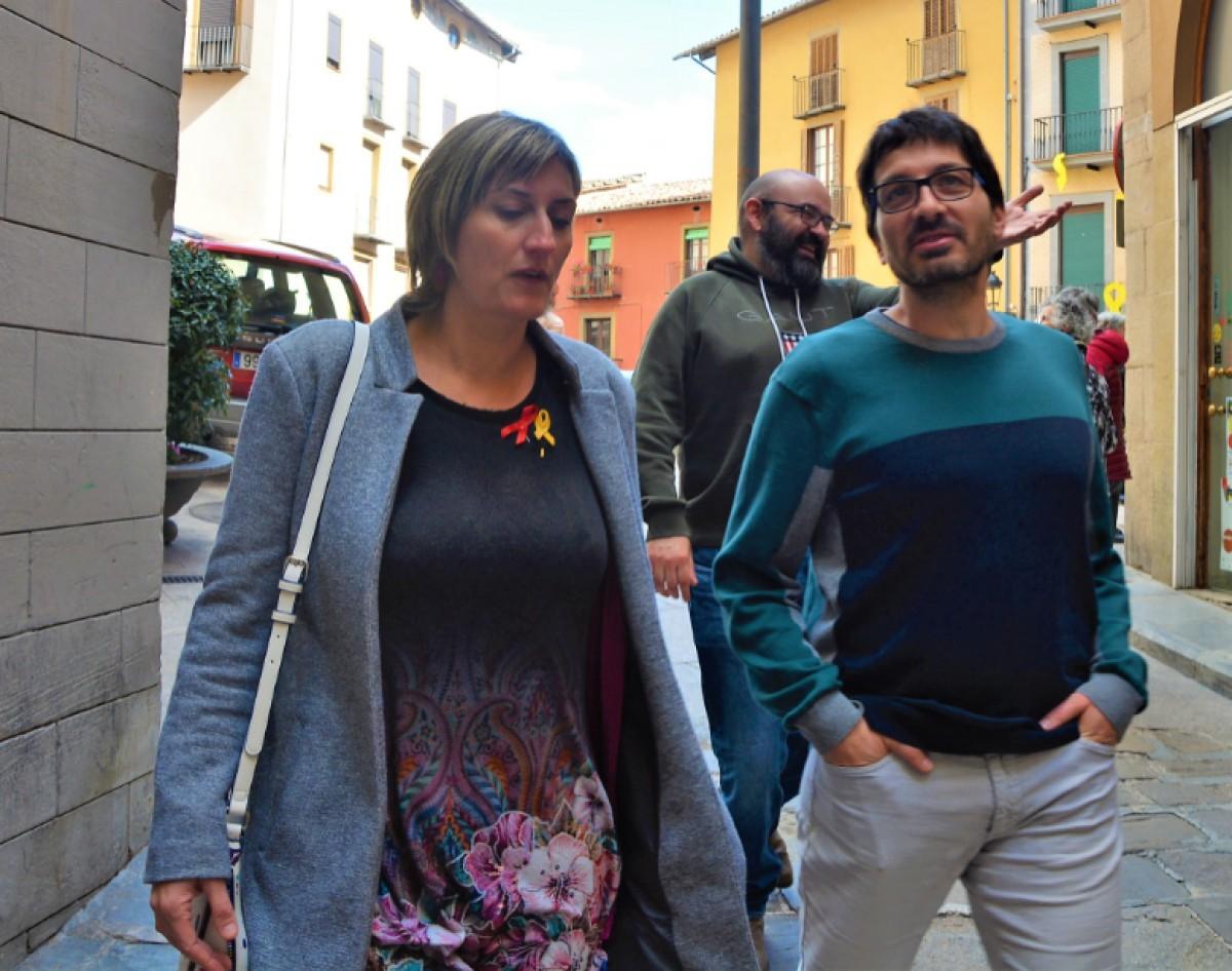 La consellera Alba Vergés amb l'alcaldable Ramon Camps.
