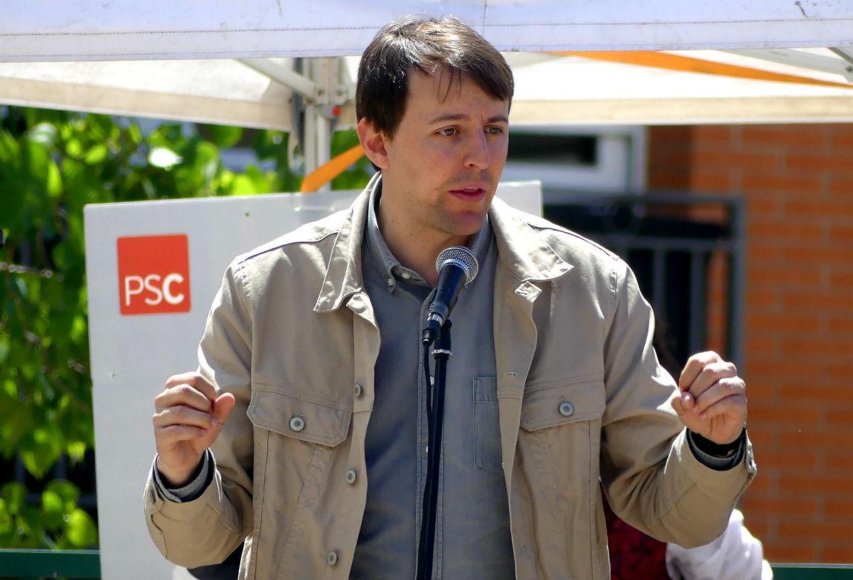 Javi López, candidat del PSC a les eleccions europees, en un acte a Tarragona.