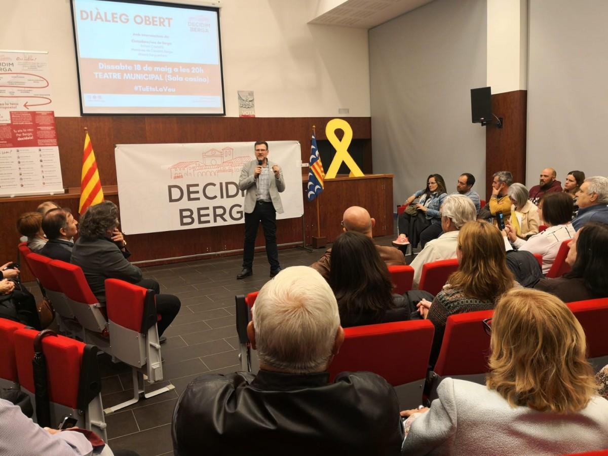 El candidat de Decidim Berga, Daniel Fàbregas.