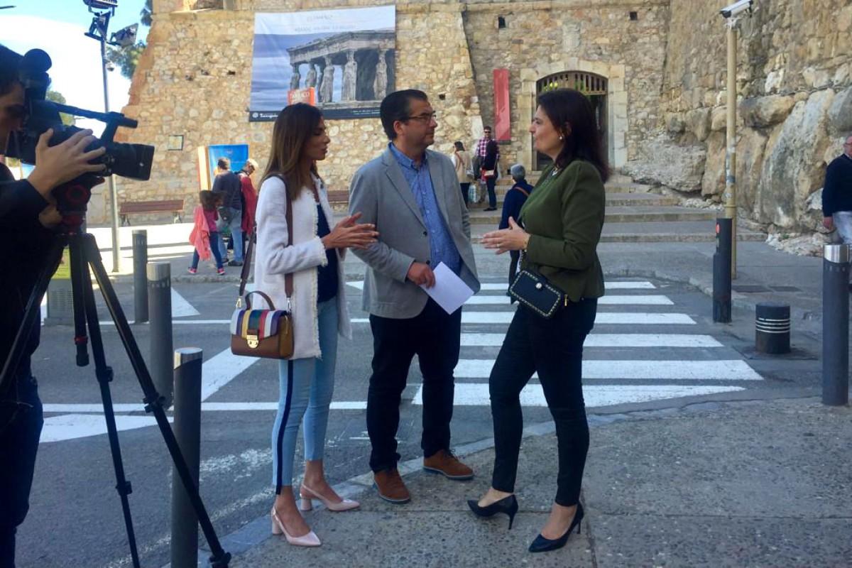 José Luis Martín, alcaldable del PP Tarragona, en roda de premsa aquest diumenge.