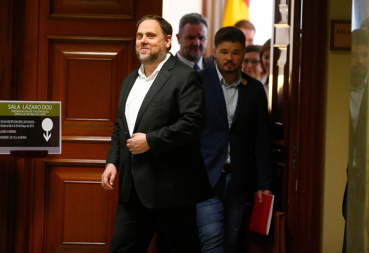 Oriol Junqueras, aquest dilluns al matí al Congrés dels Diputats